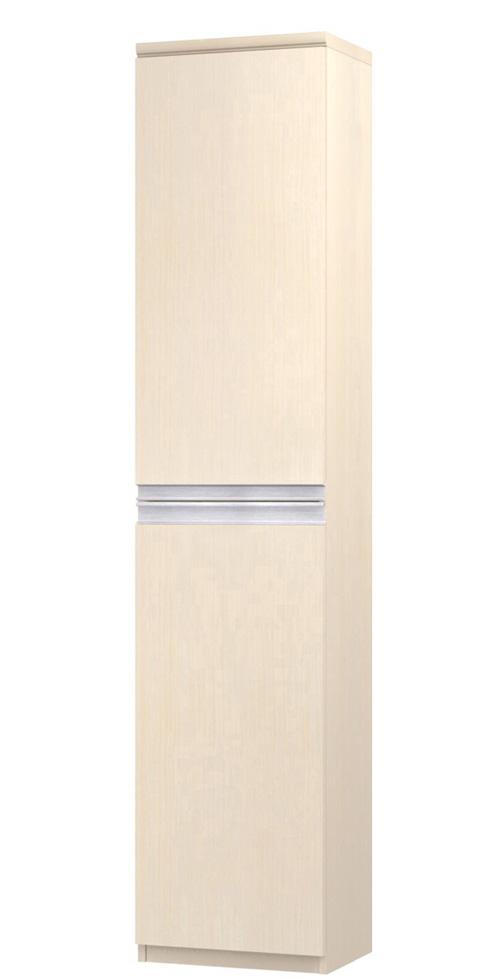 フラット扉壁面本棚 高さ211.1cm幅30~44cm奥行19cm厚棚板(棚板厚み2.5cm) 上下共片開き(左開き/右開き) フラット扉付勉強部屋収納