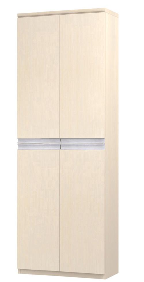 フラット扉壁面本棚 高さ211.1cm幅60~70cm奥行19cm厚棚板(棚板厚み2.5cm) 上下共両開き フラット扉付書斎家具