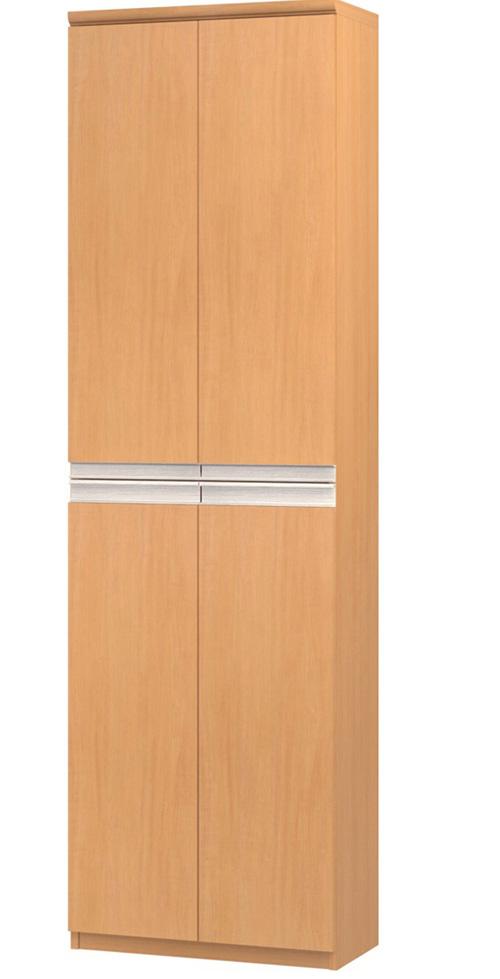 フラット扉壁面書庫 高さ211.1cm幅45~59cm奥行31cm厚棚板(棚板厚み2.5cm) 上下共両開き フラット扉付図書室収納