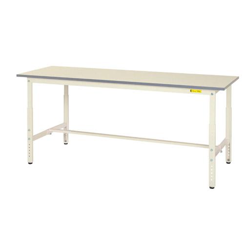 業務用テーブル 作業台 高さ調整式H600~H900mm中棚無し・下棚無し 均等耐荷重150kgワークテーブル 幅1800mm×奥450mm×高600~900mm