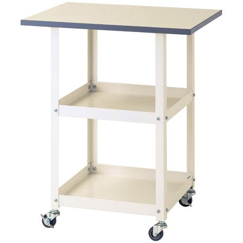 作業用テーブル 天板付ワゴン 天板付ワゴン(補助テーブル)天板付ワゴン 全体均等耐荷重96kgオプション 天板サイズ幅600×奥450mm
