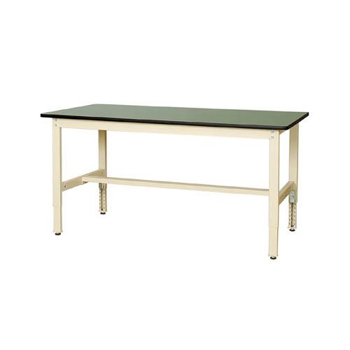 業務用テーブル ワークテーブル 高さ調整式H600~H900mm塩ビシート天板 22mm 均等耐荷重200kg作業台 幅1500mm×奥750mm×高600~900mm