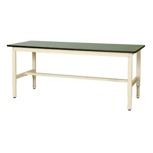 工場用テーブル ワークテーブル 高さ調整式H600~H900mm塩ビシート天板 22mm 均等耐荷重200kg作業台 幅1800mm×奥900mm×高600~900mm