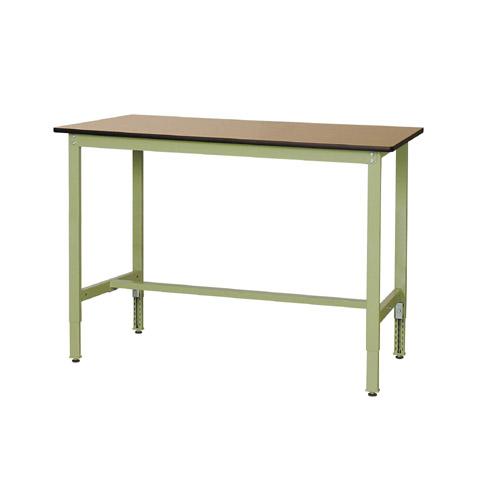 作業用テーブル ワークテーブル 高さ調整式H900~H1200mmポリエステル天板 21mm 均等耐荷重200kg作業台 幅1500mm×奥750mm×高900~1200mm