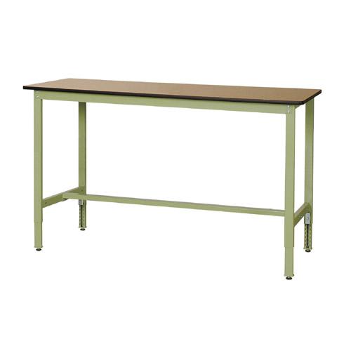 工場テーブル ワークテーブル 高さ調整式H900~H1200mmポリエステル天板 21mm 均等耐荷重200kg作業台 幅1800mm×奥600mm×高900~1200mm
