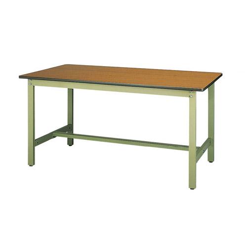 作業テーブル 作業台 高さ固定式 H740mmポリエステル天板 21mm 均等耐荷重300kgワークテーブル 幅1500mm×奥600mm×高740mm