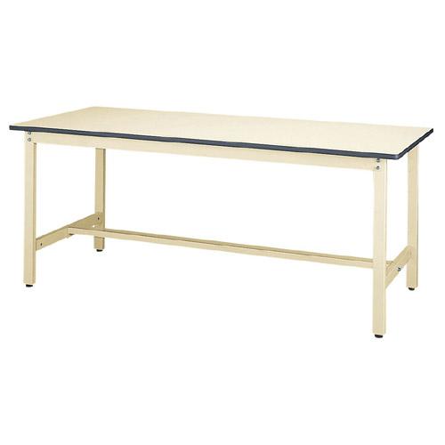 業務用ワークテーブル 高さ固定式 H740mm塩ビシート天板 22mm 均等耐荷重300kg作業台 幅1800mm×奥750mm×高740mm