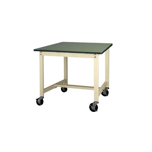 作業テーブル ワークテーブル キャスター付 高さ固定式 H740mm塩ビシート天板 22mm 均等耐荷重160kg作業台 幅900mm×奥600mm×高740mm