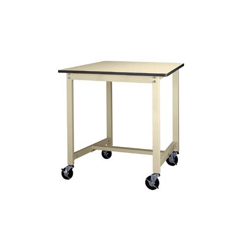 業務用テーブル ワークテーブル キャスター付 高さ固定式 H900mmポリエステル天板 21mm 均等耐荷重160kg作業台 幅900mm×奥600mm×高900mm