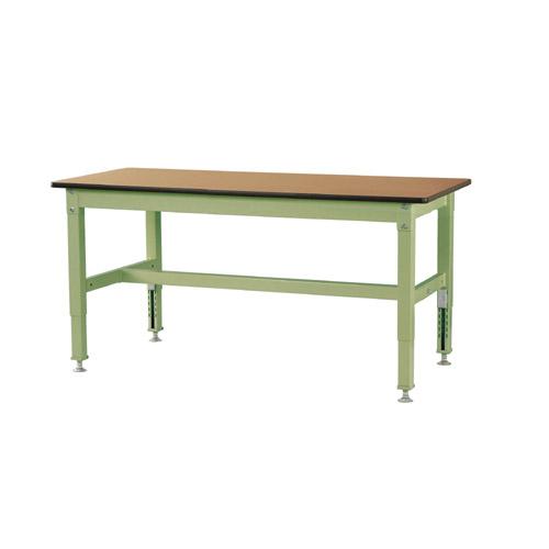 作業用テーブル 作業台 高さ調整式H600~H850mmメラミン天板 21mm 均等耐荷重500kgワークテーブル 幅1500mm×奥600mm×高600~850mm