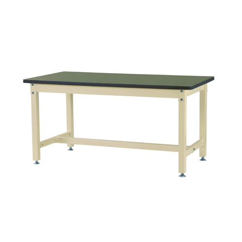 工場用テーブル 作業台 高さ固定式 H740mm塩ビシート天板 29mm 均等耐荷重1200kgワークテーブル 幅1500mm×奥750mm×高740mm