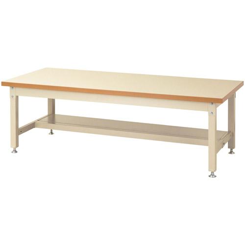 作業テーブル 作業台スーパータイプ H600mm メラミン天板中棚無し・下棚半面付 均等耐荷重3000kgワークテーブルスーパータイプ 幅1800mm×奥900mm×高600mm
