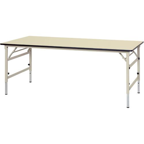 工場用テーブル 作業台 高さ調整式 H600~H900mmポリエステル天板 21mm 均等耐荷重150kgワークテーブル 幅1800mm×奥900mm×高600~900mm