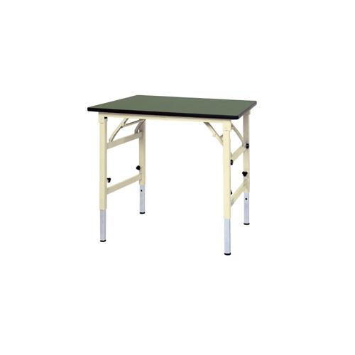工場 工作台 ワークテーブル 高さ調整式 H600~H900mm塩ビシート天板 22mm 均等耐荷重150kg作業台 幅900mm×奥600mm×高600~900mm