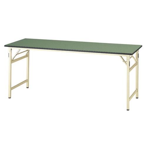 工場テーブル ワークテーブル 高さ固定式 H740mm塩ビシート天板 22mm 均等耐荷重200kg作業台 幅1800mm×奥750mm×高740mm