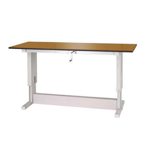 業務用テーブル ワークテーブル 昇降タイプポリエステル天板 21mm 均等耐荷重300kg作業台 幅1800mm×奥750mm×高700~1050mm