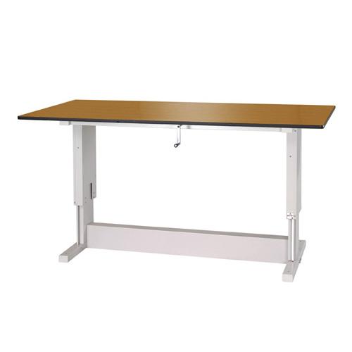 工場用テーブル ワークテーブル 昇降タイプポリエステル天板 21mm 均等耐荷重300kg作業台 幅1800mm×奥900mm×高700~1050mm