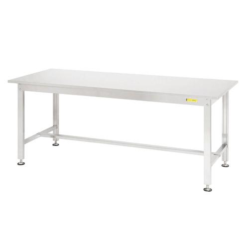 工場ワークテーブル ステンレス 高さ固定式 H740mm下棚無し 均等耐荷重300kg作業台 幅1800mm×奥900mm×高740mm