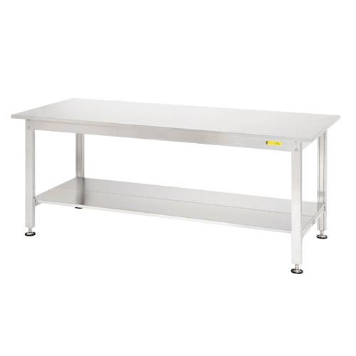 加工 ワークテーブル ステンレス 高さ固定式 H740mm下棚全面付 均等耐荷重300kg作業台 幅1800mm×奥900mm×高740mm