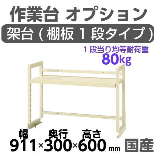 工作台 工場 作業台 架台 架台棚板1段 均等耐荷重80kgワークテーブル架台 幅911mm×奥300mm×高600mm