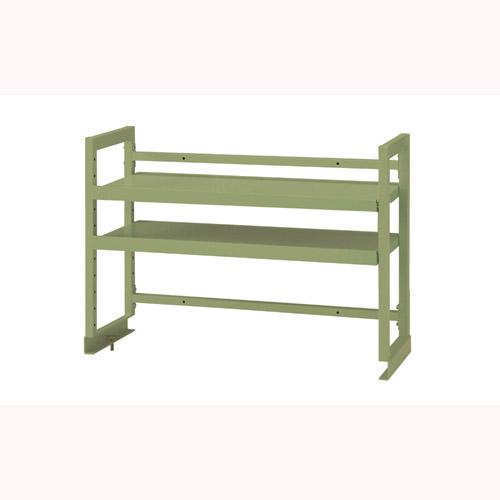 工場テーブル 作業台 架台 架台棚板2段 均等耐荷重80kgワークテーブル架台 幅911mm×奥300mm×高600mm