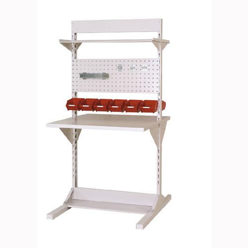 業務用 両面ライン作業台 両面ラインテーブル W893mm + 基本型単体 両面両面ラインテーブル 幅893mm×奥1275mm×高1825mm