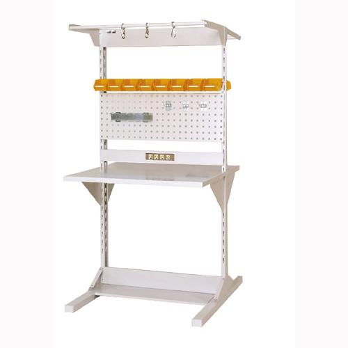 業務用 両面ライン作業台 両面ラインテーブル W893mm + 基本型連結 両面両面ラインテーブル 幅893mm×奥1275mm×高1825mm