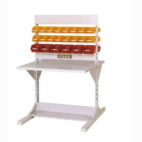 業務用両面ライン作業台 両面ラインテーブル W893mm + 基本型連結 両面両面ラインテーブル 幅893mm×奥1275mm×高1405mm