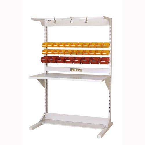 工場用片面ラインテーブル 片面ラインテーブル W1193mm + 基本型単体 片面片面ライン作業台 幅1193mm×奥825mm×高1825mm