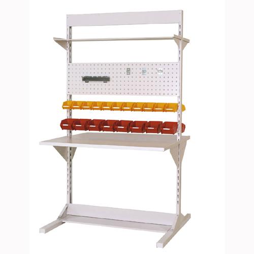 工場用 両面ライン作業台 両面ラインテーブル W1193mm + 基本型単体 両面両面ラインテーブル 幅1193mm×奥1275mm×高2125mm