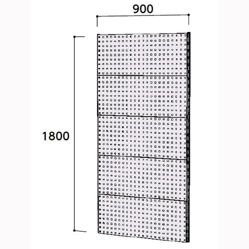 工場用 壁面ハンガーラック 壁面ハンガーパネル W900mm単体 支柱2本壁面ハンガーパネル 幅900mm×奥mm×高1800mm