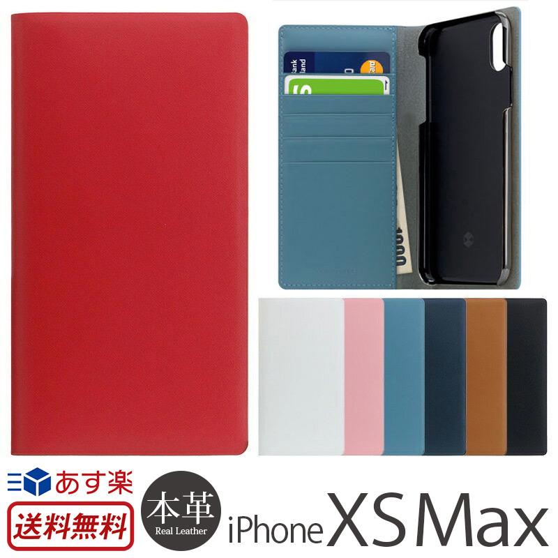 【送料無料】【あす楽】 iPhone XS Max ケース 手帳型 本革 レザー SLG Design Calf Skin Leather Diary for iPhoneXSMax 手帳 iPhoneケース ブランド iPhone10smax スマホケース アイフォン10 sMax アイフォンXSMax カバー アイフォン テン エス マックス 手帳型ケース 革