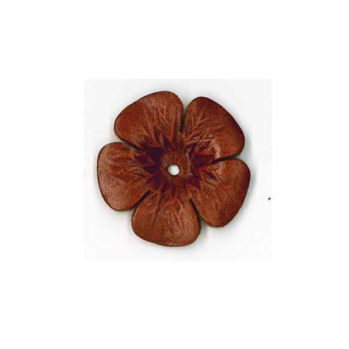 与え 手作りの手芸アイテムに 本革パーツ フラワー 2個入り 6色展開 送料無料でお届けします 3.3cm