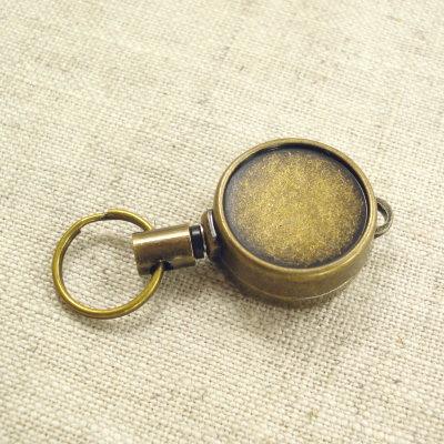 手作りの手芸アイテムに ミニリールキーホルダー 大放出セール アンティックゴールド 人気ブレゼント