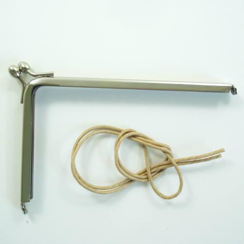 手作りの手芸アイテムに 金属 がま口 口金 ストアー 市販 L字型 12cm×7.5cm 3色展開
