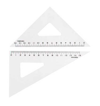 ニューアクリル三角定規18 まとめ買い特価 ファクトリーアウトレット
