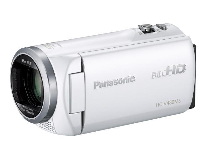 Panasonic ビデオカメラ HC-V480MS-W [ホワイト]
