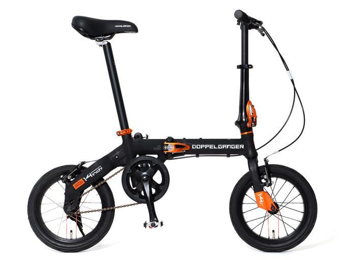 DOPPELGANGER 折り畳み自転車 140-BK HAKOVELO