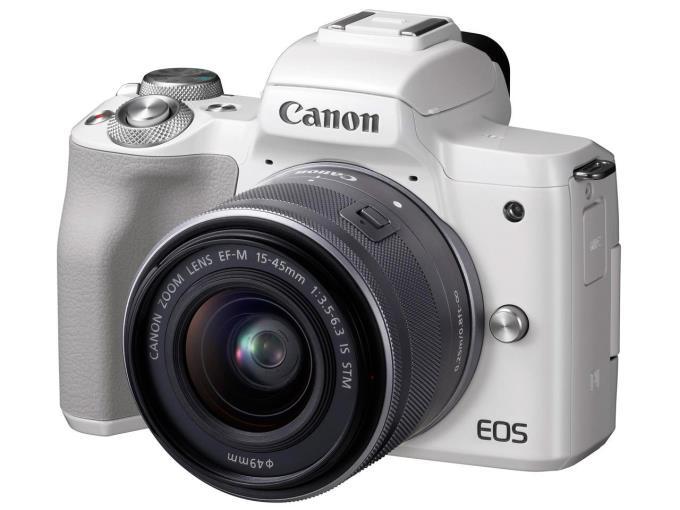 CANON デジタル一眼カメラ EOS Kiss M EF-M15-45 IS STM WH レンズキット [ホワイト]