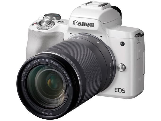 CANON デジタル一眼カメラ EOS Kiss M EF-M18-150 IS STM WH レンズキット [ホワイト]