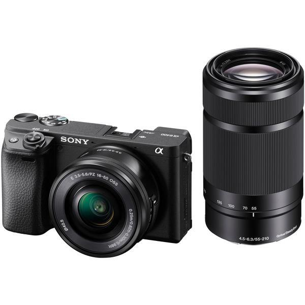 SONY デジタル一眼カメラ α6400 ILCE-6400Y ダブルズームレンズキット [ブラック]