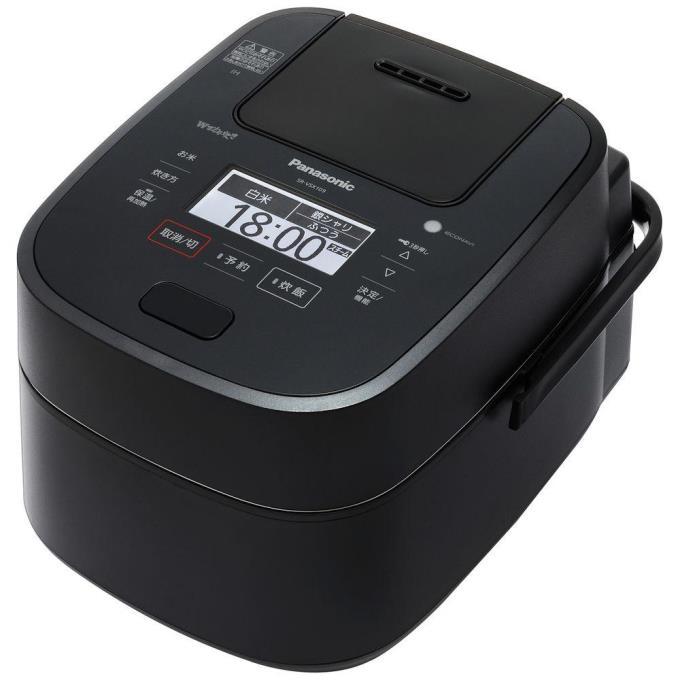 Panasonic 炊飯器 Wおどり炊き SR-VSX189-K [ブラック]