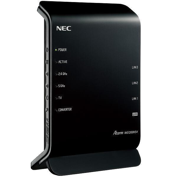 <title>NEC ハイクオリティ 無線LANルーター Aterm WG1200HS4 PA-WG1200HS4</title>