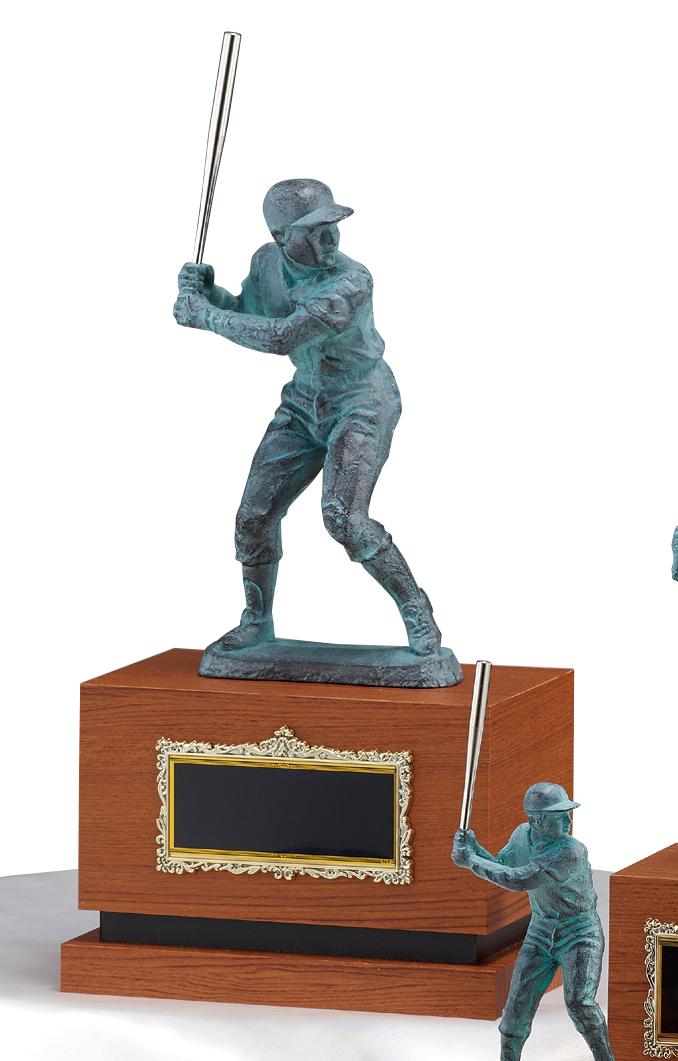 【文字彫刻無料】ブロンズ(B2555A)高さ:31cm/野球