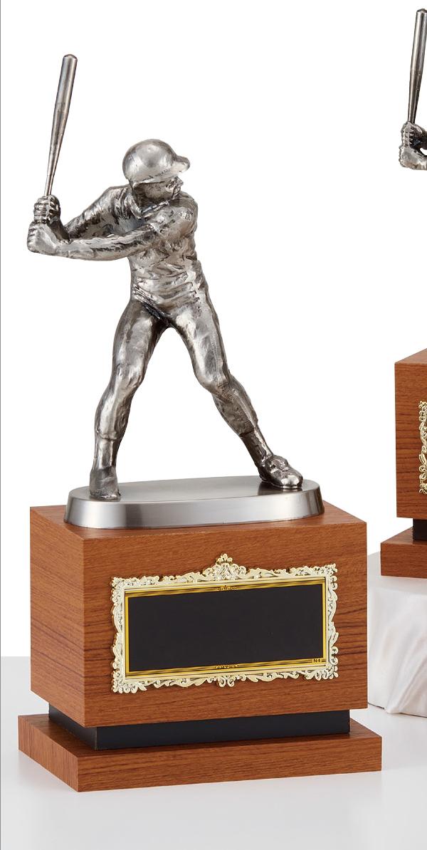 【文字彫刻無料】ブロンズ(B2556A)高さ:30cm/野球