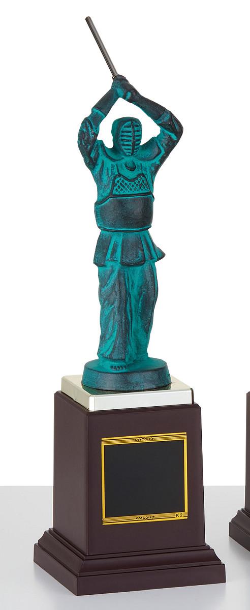 【文字彫刻無料】ブロンズ(B2586A)高さ:33cm/剣道