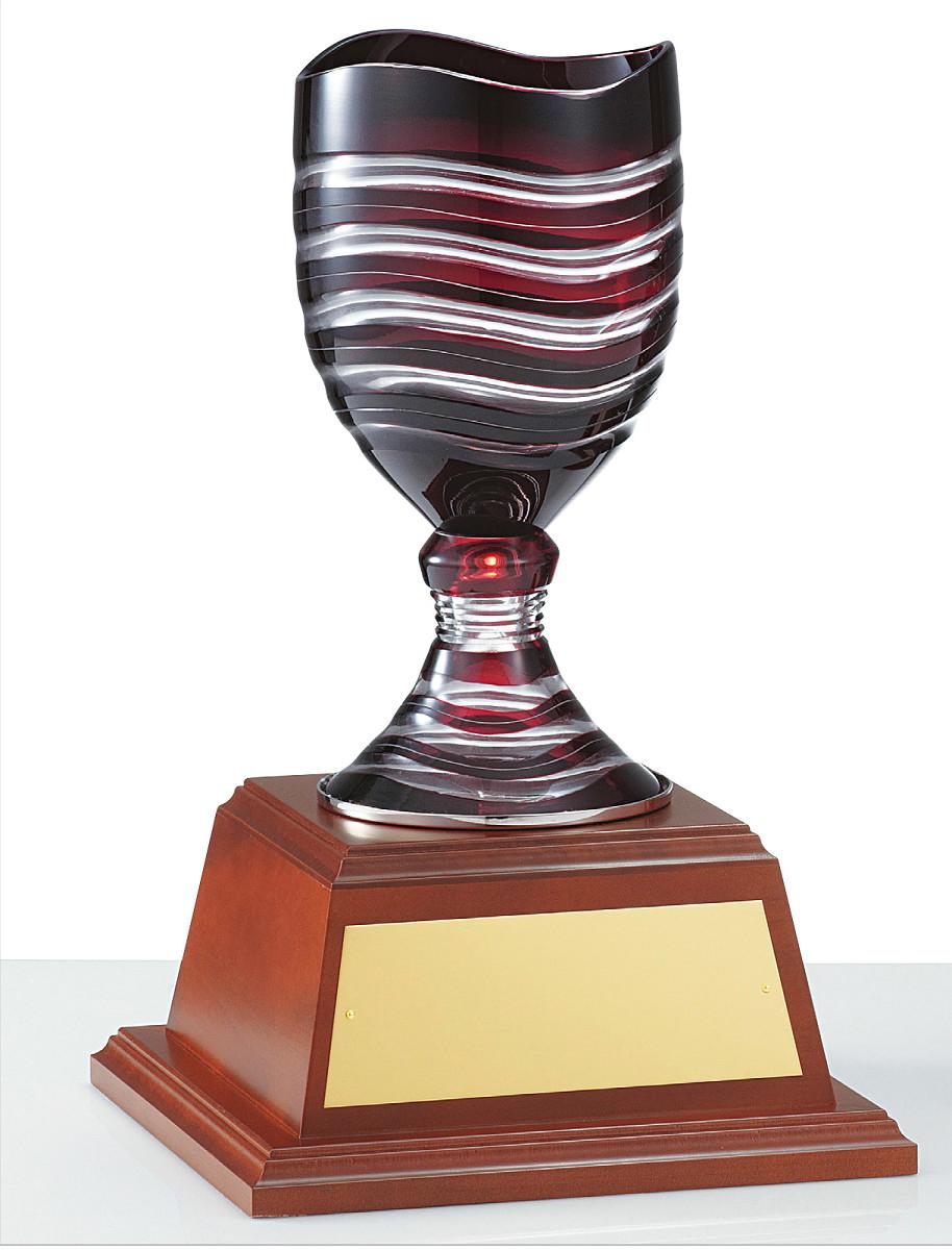 【文字彫刻無料】優勝カップ(C1040A)高さ:36.5cm/リボン無料/ガラス/ハードケース付き