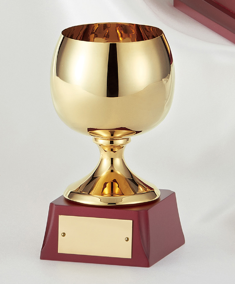 【文字彫刻無料】優勝カップ(C1082D)高さ:14.5cm/リボン無料/真鍮
