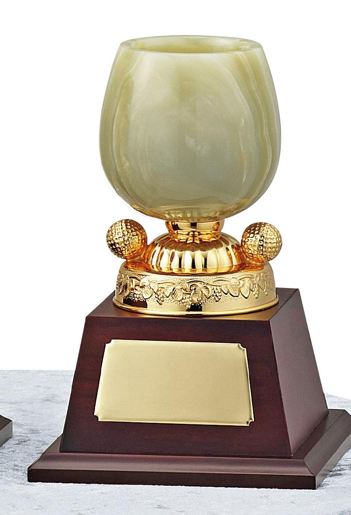 【文字彫刻無料】優勝カップ(C1317C)高さ:18.5cm/リボン無料/オニックス/ゴルフ
