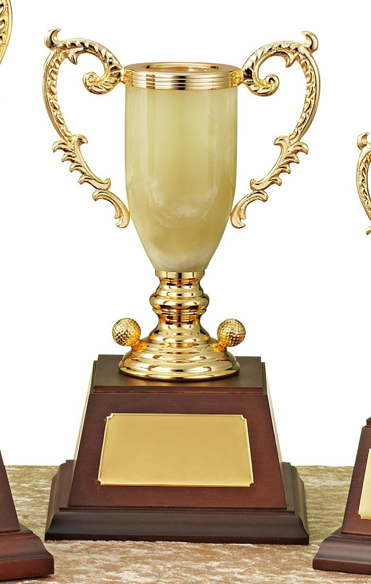 【文字彫刻無料】優勝カップ(C1326B)高さ:31cm/リボン無料/オニックス/ゴルフ